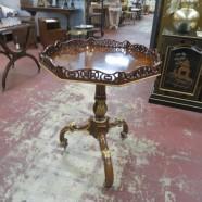 Vintage Antique Style Maitland-Smith Mahogany Octagonal Side Table – $375