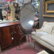 Vintage Antique Wrought Iron Dressing Mirror – $295