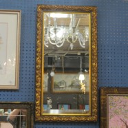 Vintage Antique Carved Gilt Mirror – $90