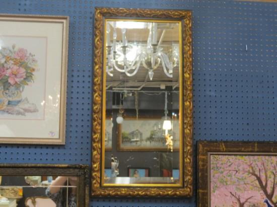 Vintage Antique Carved Gilt Mirror – $90