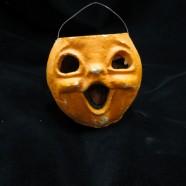 Vintage Antique Papier Mache Halloween Pumpkin – $115