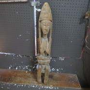 Vintage Antique Carved Wood African Malinke Maternity Figure – $1200