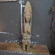 Vintage Antique Carved Wood African Malinke Maternity Figure – $1200