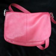 Vintage Coach Hot Pink Leather Satchel Bag – $180