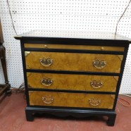 Vintage Mid-Century Chinese Style 3 Drawer Chest/Nightstand – $250