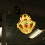 Vintage Mid-Century Modern Art Glass Hanging Light Chandelier – $85