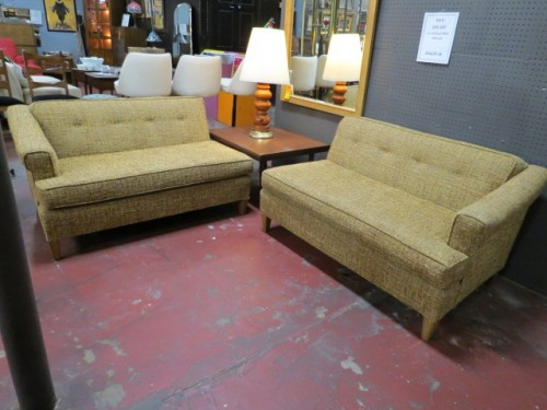 Vintage Mid-Century Modern 2 Piece Sectional Sofa – $895