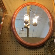 Vintage Antique Maple Oval Mirror – $100