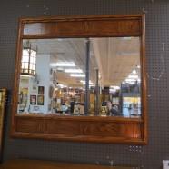 Vintage Mid-Century Modern Lane Walnut Mirror – $195