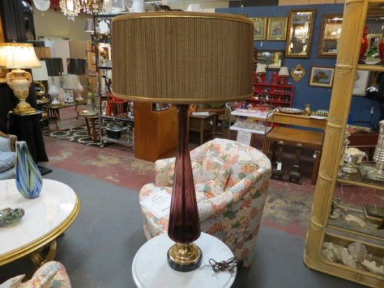 Vintage Mid-Century Modern Murano Glass Lamp – $195