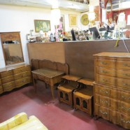SALE! Vintage Antique French Style 7 Piece Solid Walnut Bedroom Set – $1195 for the set
