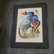 Vintage Mid-Century Modern Joan Miro Print – $65