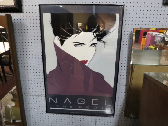 Vintage Mid-Century Modern Nagel Print of Woman Wrapped in a Shawl – $125