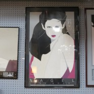 Vintage Mid-Century Modern Nagel Print of a Woman with Cream Dress – $125
