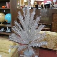 Vintage Mid-Century Modern 48 Branch 4.5 Foot Silver Christmas Tree – $195