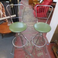 Vintage Mid-Century Modern Pair of Chrome Bar Stools – $165 for the pair
