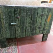 Vintage Antique Primitive Shabby Chic Wood Chest/Cabinet – $150