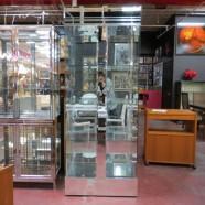 Vintage Mid-Century Modern Style Glass and Mirror Vitrine Display Case – $495