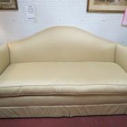 Vintage Camel Back Silk Sofa – $475