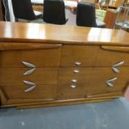 Vintage Mid-Century Modern Kent Coffey Walnut Credenza/Dresser – $495