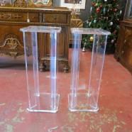 SALE! Vintage Mid Century Modern Pair of Lucite Pedestals – $312