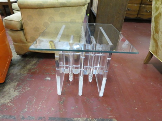 Vintage Mid Century Modern Charles Hollis Jones Lucite and Glass Table – $1200