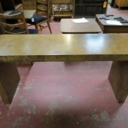 Vintage Mid Century Modern Burled Walnut Console Table – $525