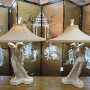 Vintage Mid Century Modern Pair of Figural Reglor of California Lamps – $595 for the pair