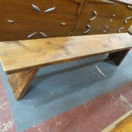 Vintage Antique Reclaimed Wood Long Bench – $330
