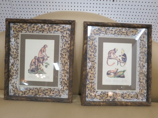 Vintage Pair of John Richard Monkey Etchings – $350 for the pair