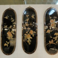 SALE! Vintage Antique Set of 3 Chinese Wall Plaques – $99