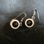 Vintage Chanel Button Pierced Earrings – $75