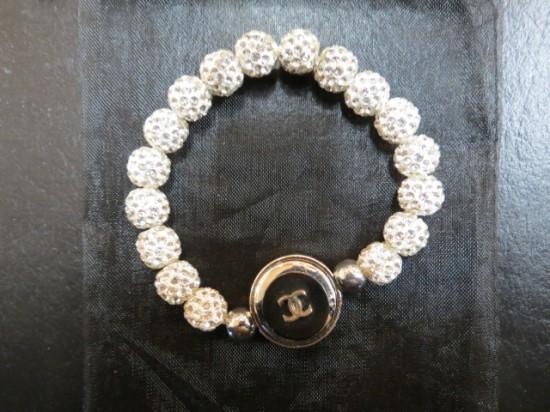 Vintage Chanel Button Rhinestone Bracelet – $50