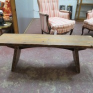 Vintage Reclaimed Wood Bench – $200