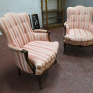 Vintage Antique Pair of Walnut French Style Armchairs – $425 for the pair