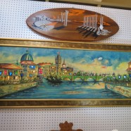 Vintage Mid Century Modern Lighted Painting of Venice – $625