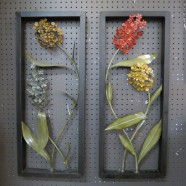 Vintage Mid Century Modern Pair of Metal Flower Wall Art – $195 for the pair