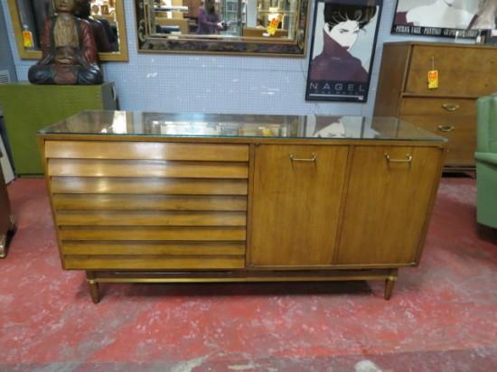 Vintage Mid Century Modern American of Martinsville Walnut Credenza – $595