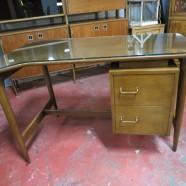 Vintage Mid Century Modern American of Martinsville Walnut Desk – $395