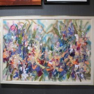 Vintage Mid Century Modern Large Diptych Abstract Painting – $695