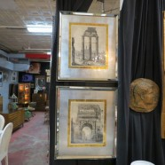 Vintage Antique Pair of Large Roman Ruins Prints in Mirrored Frames – $395 each