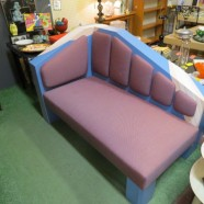 Vintage 80s Unusual Custom Chaise Lounge/Love Seat – $395
