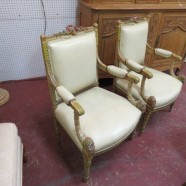 Vintage Antique Pair of carved French Louis XVI Chairs – $895 for the pair