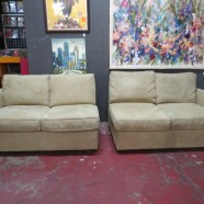 Vintage 2pc Room and Board Sectional Sofa – $695
