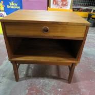 Vintage Mid Century Modern Dux Danish Teak Side Table/Nightstand – $195