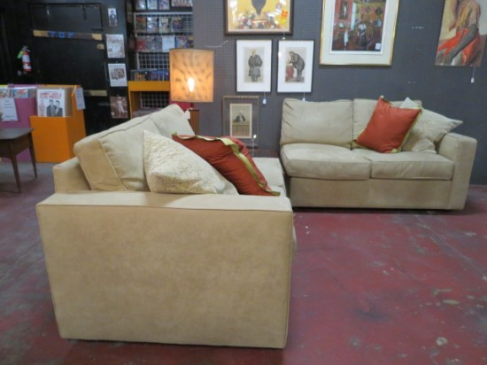 Vintage 2pc Room and Board Sectional Sofa – $695 for the set