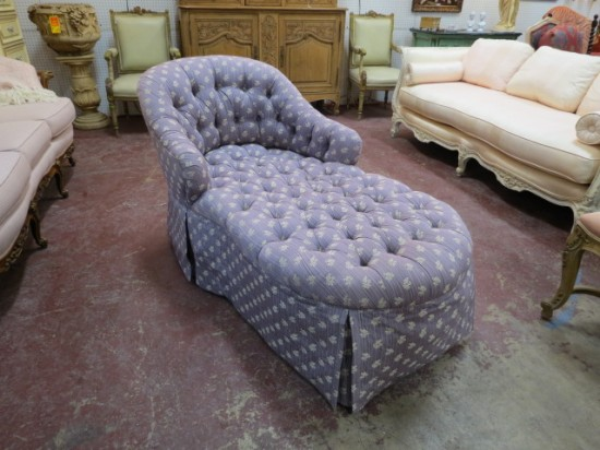Vintage Antique Lavender Chaise Lounge – $295