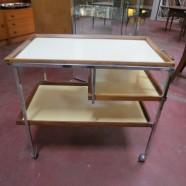 Vintage Mid Century Modern 3 Tier Bar Cart – $140