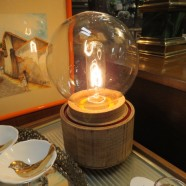 Vintage Style Table Lamp With Large Globe – $100