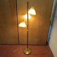 Vintage Mid Century Modern 3 Light Floor Lamp – $195